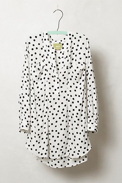 spotted brunia henley / anthropologie  Would be fab with a pair of skinny black jeans and ankle boots...