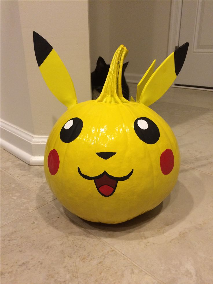 Pikachu Pumpkin Random Stuff Pumpkin Decorating
