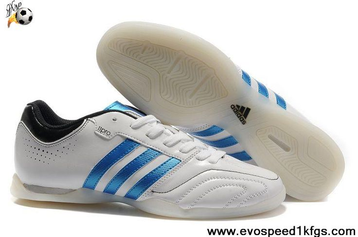 Latest Listing Running White-Bright Blue-Black Adidas Adipure 11Pro TRX IC Soccer Boots For Sale
