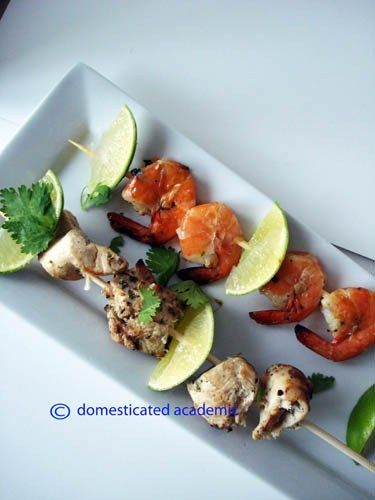 Cilantro Lime Skewers