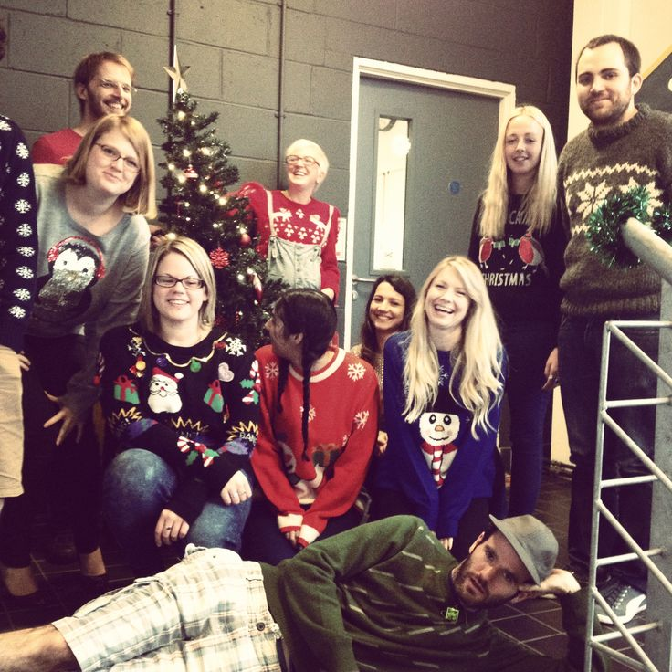 Turns out it's surprisingly hard to get all the @createdotnet team's #xmasjumpers into one photo for #xmasjumperday 2014!