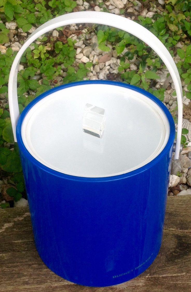 FREE SHIPPING..Retro Bucket Brigade Vivid Blue Ice Bucket-ManCave-Mad Men-Barware by ellansrelics02 on Etsy https://www.etsy.com/listing/243037352/free-shippingretro-bucket-brigade-vivid
