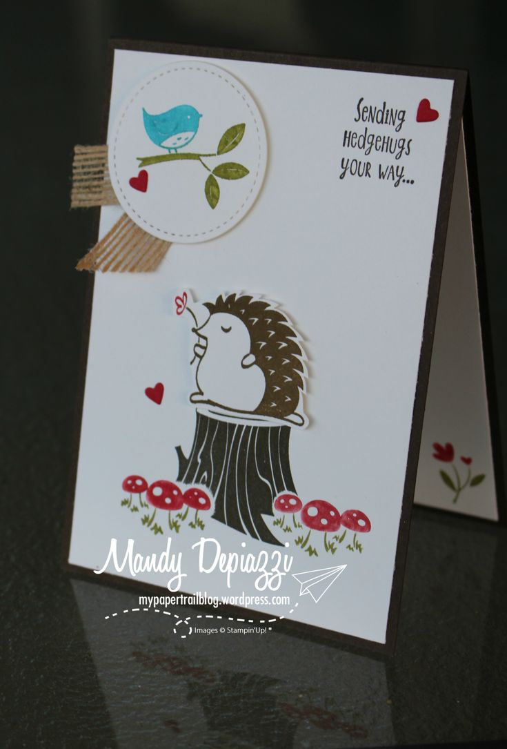 How cute is this new Hedgehugs Stamp Set!