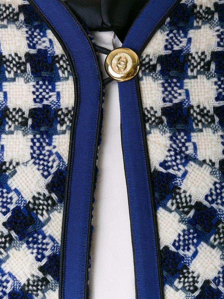 Chanel Vintage пиджак с юбкой в клетку