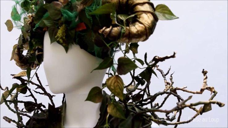 """Dame Nature"" Costume Fraise au Loup - Cirque - Echasse"