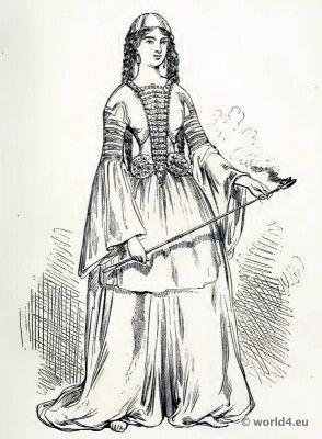 Medieval Circassian costume. The Corset and the Crinoline