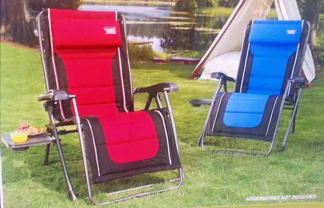 Timber Ridge Antigravity Camp Lounger Chair Red On