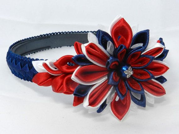 Tsumami Kanzashi Flower HeadBand Great Britain by LazuritLouise