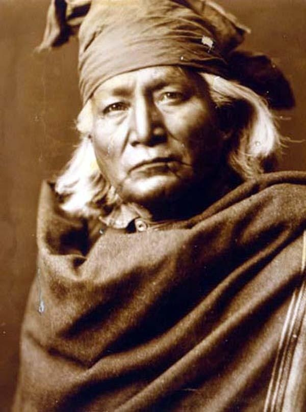 Here we present a rare image of Chino. It was taken in 1903 by Edward S. Curtis.    The image shows Chino, head-and-shoulders portrait of a Native American, facing front.