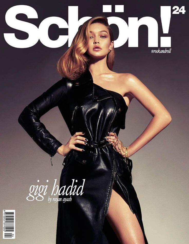 Young Blood–Former Guess girl and current Sports Illustrated model Gigi Hadid makes the cover of Schon Magazine's twenty-fourth issue in a sizzling leather look. The blonde beauty poses for Rayan Ayash in the seductive studio snaps wearing daring looks from the likes of The Blonds, Zuhair Murad and Edun March 24, 2014