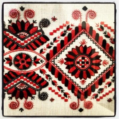 """Buzsak embroidery in the """"vezas"""" style"""