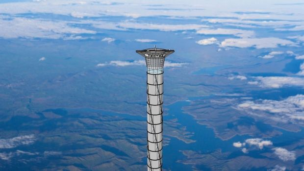 Up, up and away: Space elevator with inflatable tower patented by Canadian company