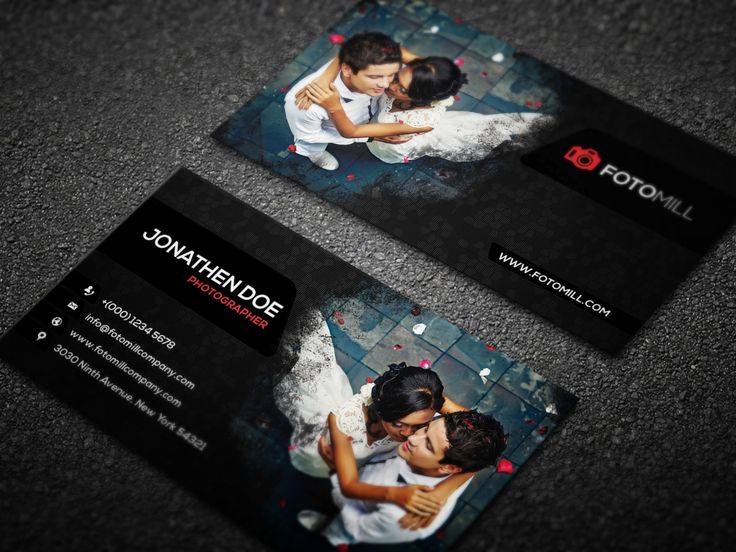 27 best free business card template psd images on pinterest free free photography business card psd template 2 accmission Image collections