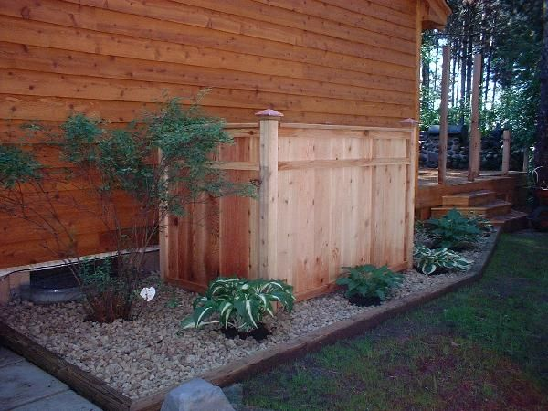 Propane Tanks Privacy Fences And Fence On Pinterest