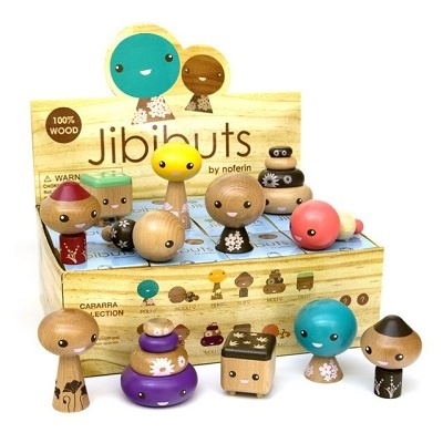 """Jibibuts Series One"" designer toys by Noferin"