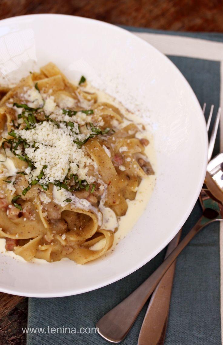Pasta Carbonara - Cooking with Tenina
