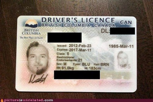 Driver's Licence #BC #Canada #TheBestPlaceOnEarth