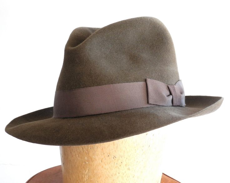 Mens Felt Fedora Hat- Men's Hat-1940s Mens Hat- 1930s Mens Hat- Spring Fashion-Fall Fashion by KatarinaHats on Etsy