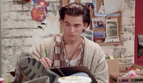 Mmmmm... hot guys reading. Swoon.  - Johnny Whitworth as AJ, Empire Records (1995)