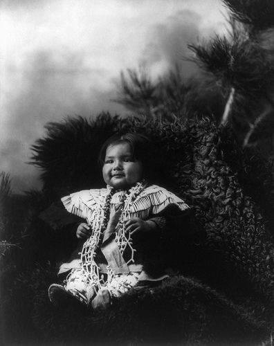 Two Shawl, Dakota Sioux girl, by Heyn & Matzen, 1900   by trialsanderrors