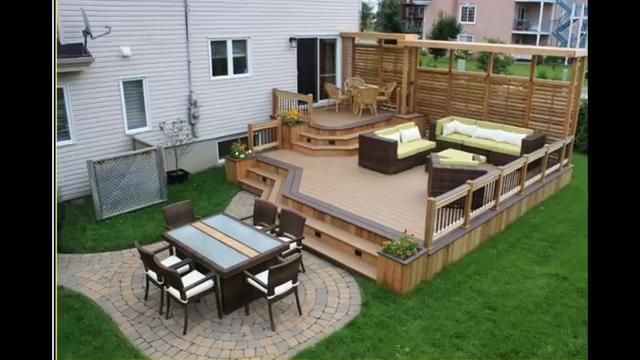 Backyard Patio Ideas For Small Makeover Video Deck Designs Decks