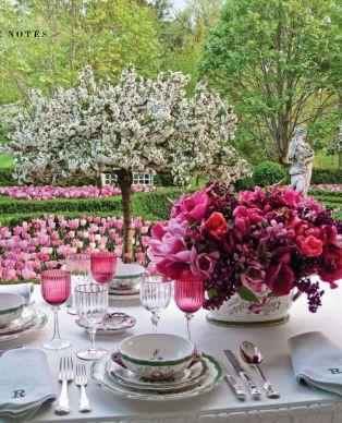 Splendid Sass: CAROLYN ROEHM ~ SPRINGTIME TABLESCAPE AND A STYLISH BLOGGER AWARD