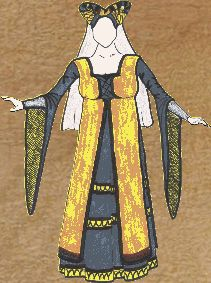 Esta vestimenta la llevaban las damas del siglo XII