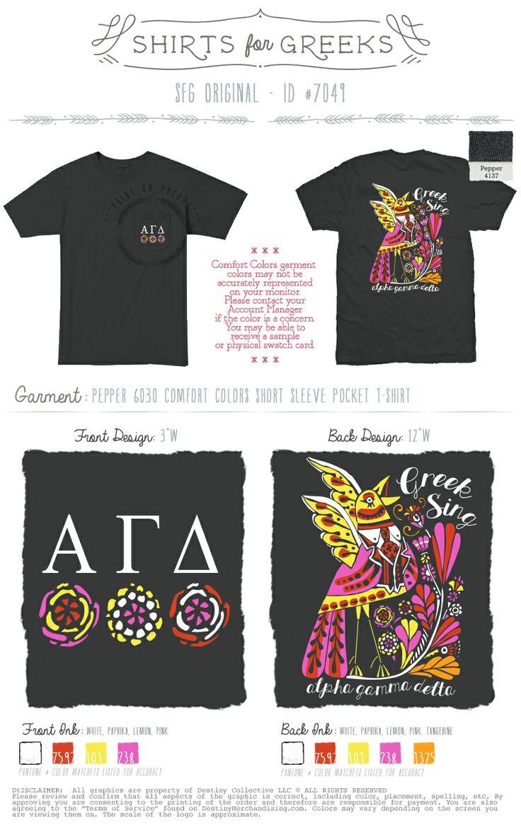Alpha Gamma Delta | AGD | Tribal Bird | Greek Sing | Cute Designs | Flowers | SFG Original | Shirts For Greeks | shirtsforgreeks.com