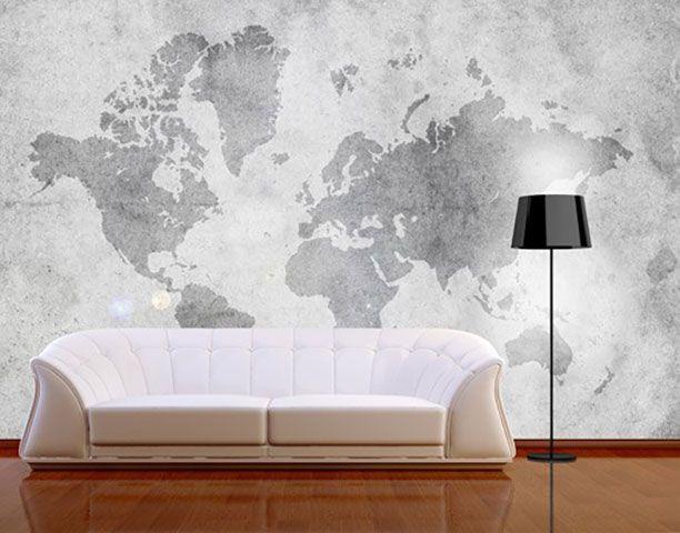 oltre 25 fantastiche idee su weltkarte tapete su pinterest. Black Bedroom Furniture Sets. Home Design Ideas