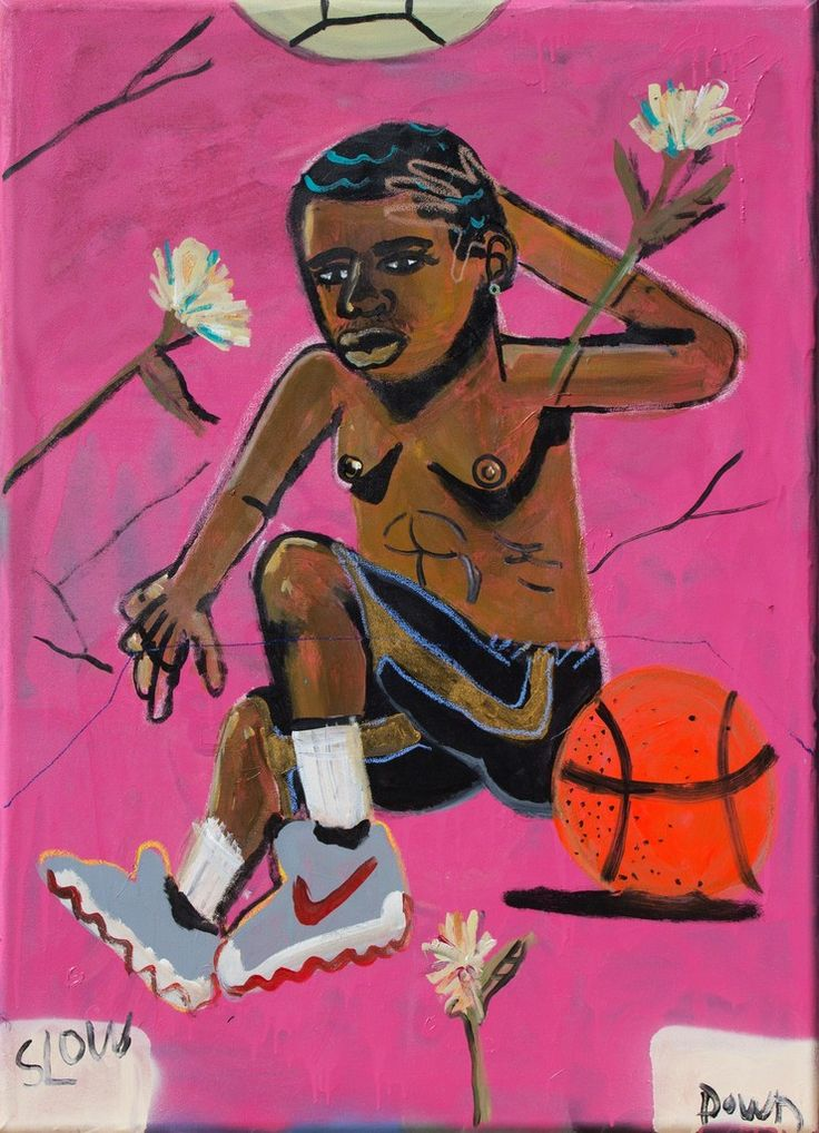 From Thierry Goldberg Gallery, Jonathan Lyndon Chase, Slow Down Acrylic and spray paint on canvas, 43 × 31 in Spray Paint On Canvas, Identity Art, Black Artists, Art Inspo, Contemporary Art, Street Art, Disney Characters, Fictional Characters, Art Pieces