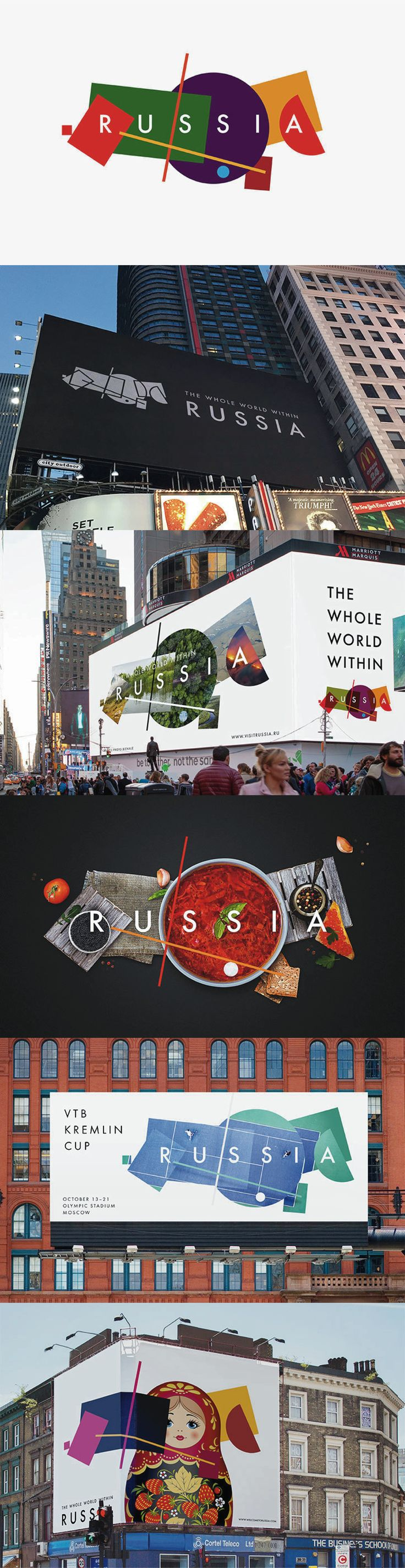 2015 Map Of Russia%0A News   Graphic Design The rebrand for Russia u    s tourist board uses  Suprematist geometry laid out as