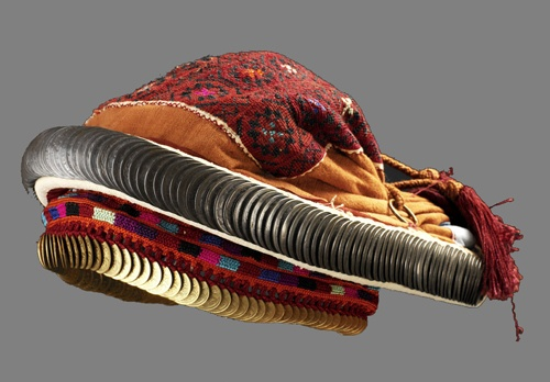 In the nineteenth century, Galilee women wore a headdress called smadeh made of cloth skullcap with coins attached to it. The smadeh had a padded horseshoe rim sewn with coins called saffeh. Attached to the smadeh was a chain or Znaq hanging from both sides of the smadeh below the chin. This headdress was widely used during the nineteenth century in villages like Al Bassah on the Palestinian Lebanese border and in Usuffia south of Haifa. Coin headdresses went out of use for daily use by…