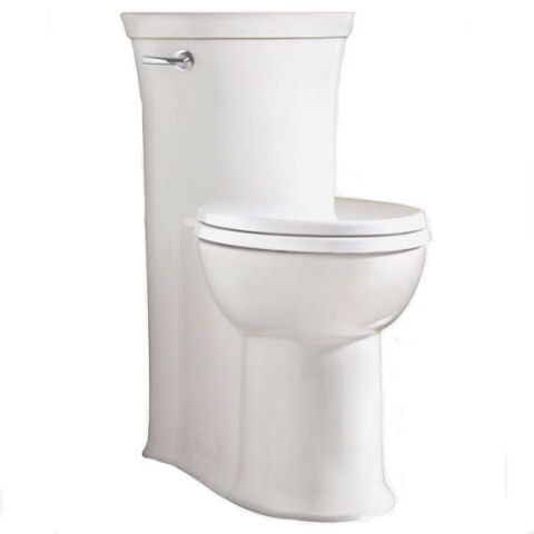 Concealed trapway toilet.  The skirted style is SO much nicer!  I will never buy a regular toilet again!