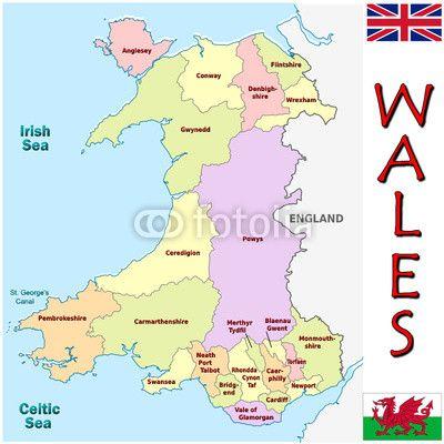 "welsh emblems   Wales Europe UK national emblem map symbol motto"" Stock image and ..."