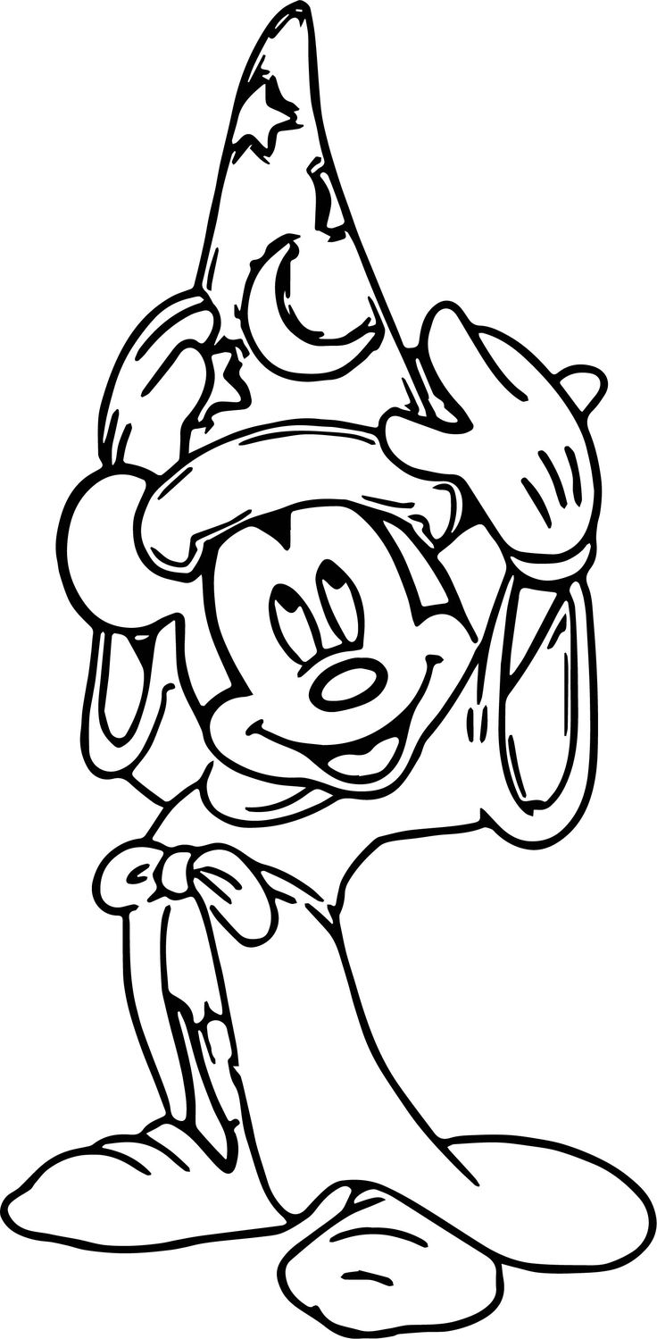 nice Magic Mickey Mouse Hat Coloring Pages Mickey mouse