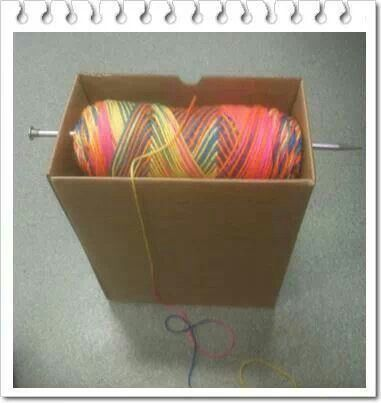 Clever for those who pull from the outside of the skein.