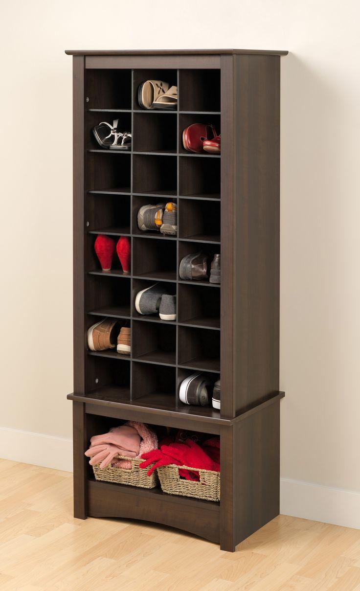 Buy Prepac Tall Shoe Cubbie Cabinet in Espresso on sale online