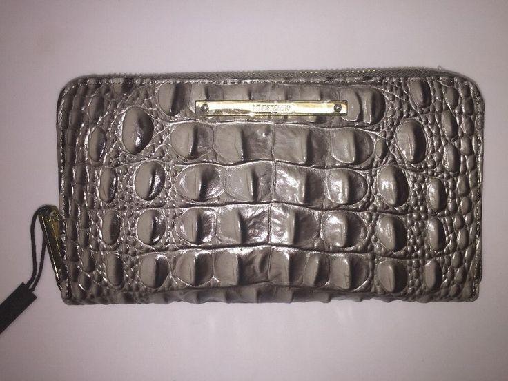 Brahmin Suri Wallet Falcon Melbourne Zip Around Grey  | eBay