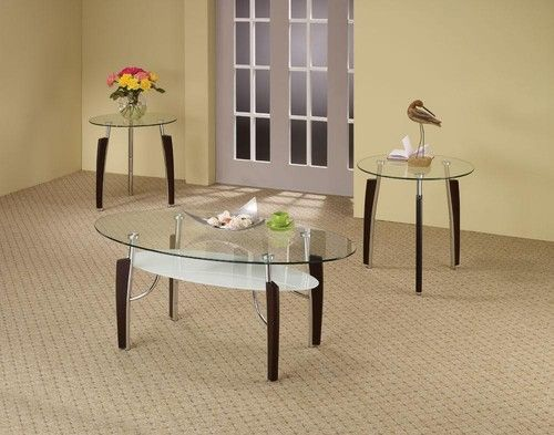 3 PC Modern Coffee Table & End Table Set 701558