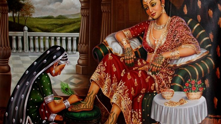 Arts, Artwork, Mehandi, Painting, Indian Art, Indian Artwork, Indian Painting, Mehandi of the Bride