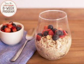 I am a sweet breakfast girl at heart so I love that the IQS 8-Week Program - Coconut and Almond Overnight Oats are the 3rd potential sweet breakky for me! And bonus, all the prep is done the night before! Snooze here we come :)