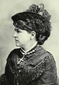 Fanny Vandegrift Stevenson about the time of her 1880 marriage to Robert Louis Stevenson  (photo from Nellie Vandegrift Sanchez biography)
