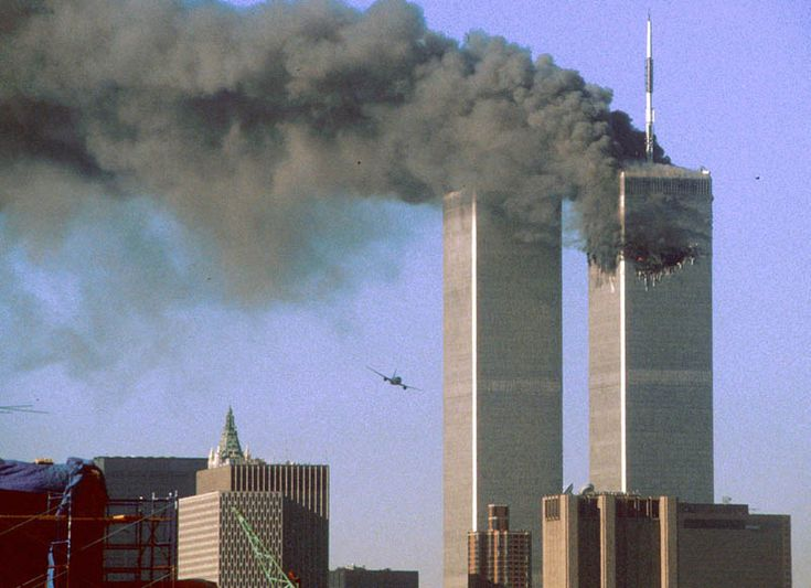 UA flight 175 flies into WTC south tower sept 11 reuters sean adair