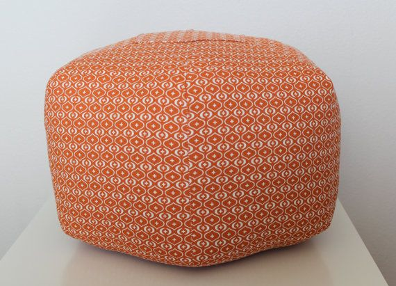18 ottoman pouf floor pillow akita sweet potato orange natural via etsy autumn. Black Bedroom Furniture Sets. Home Design Ideas