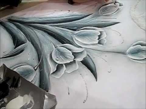 TULIPAS MONOCROMÁTICAS - PARTE 2 -  How to paint a tulip