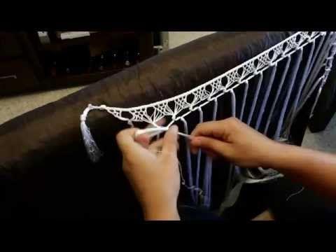 Se realizan todo tipo de enrejados de flecos para mantones, mantoncillos y tiras de flecos para escotes de trajes de flamenca.