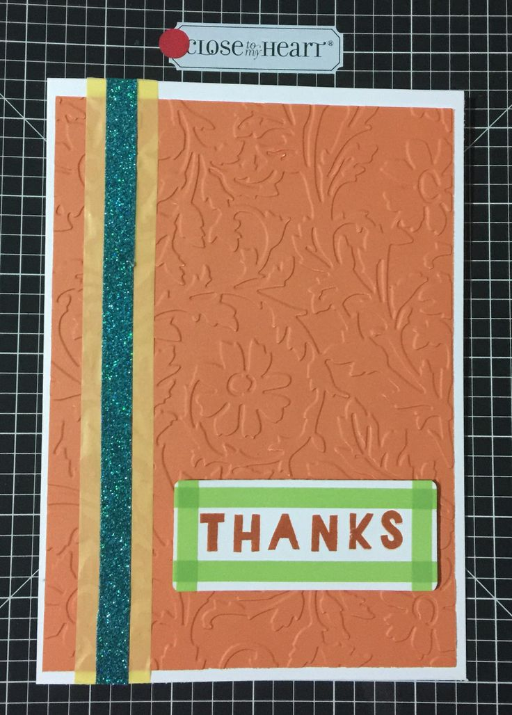 Thank you card  Embossed