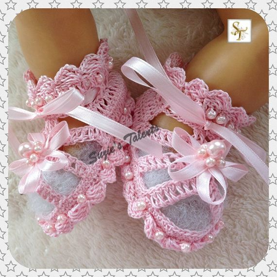 1224 Months PATTERN PT002B  Baby Booties with by SuziesTalents, $7.50