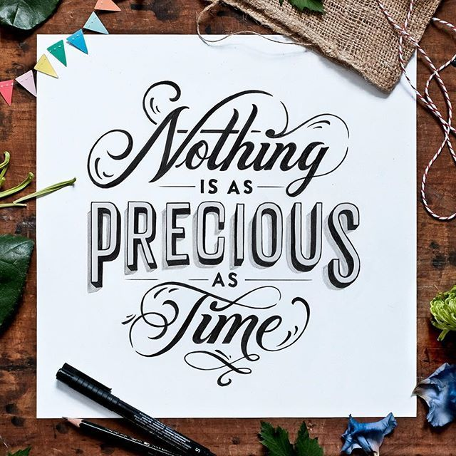 Nothing is as precious as time! So true! Lettering for @clockhouse #clockhouse ✨