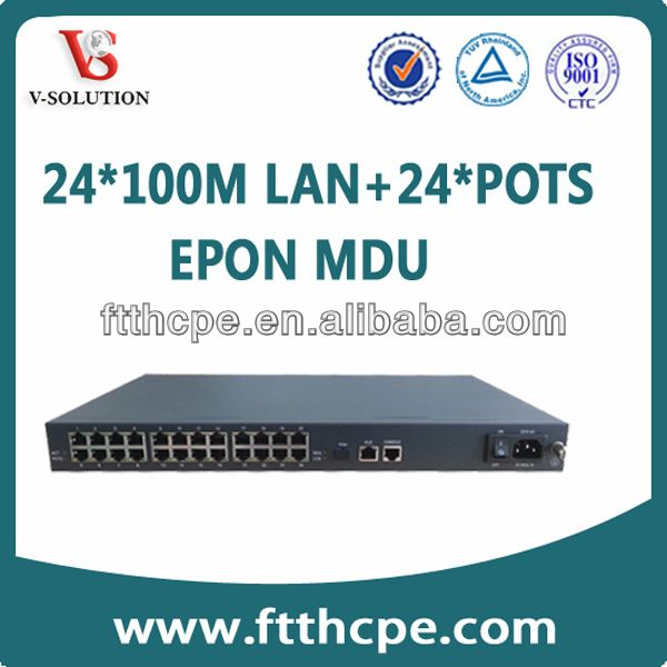 """""""OLT EPON MDU(Multi-Dwelling Unit) V5628-2C,Support QinQ VLAN and IGMP Snooping"""""""